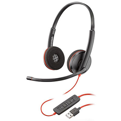 The Plantronics Blackwire C3220 is a corded USB headset that is perfect for UC environments. It is durable, comfortable, and easy to deploy. The Plantronics C3220 features a comfortable headband, soft foam ear cushions, stereo sound with passive noise cancellation, wideband audio, and a noise-cancelling microphone for crystal clear conversations.